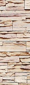 Papier peint pour porte trompe l 39 oeil d co pierre r f 578 ebay - Papier peint trompe loeil ...