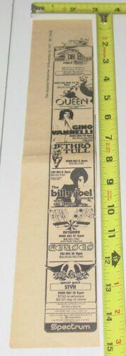 Aerosmith STYX QUEEN Kansas Billy Joel Concert AD Advert 1977  Spectrum Rock