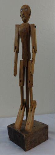 "Antique Wooden ""Happy Jack"" Articulated Mannequin Figure"