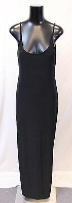 Boohoo Women's Plus Slinky Strappy Maxi Dress JM4 Black Size US:12 UK:16 NWT