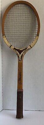 Vintage Rawlings Earl Buchholz Wood Tennis Racquet WPress Grip 4.75