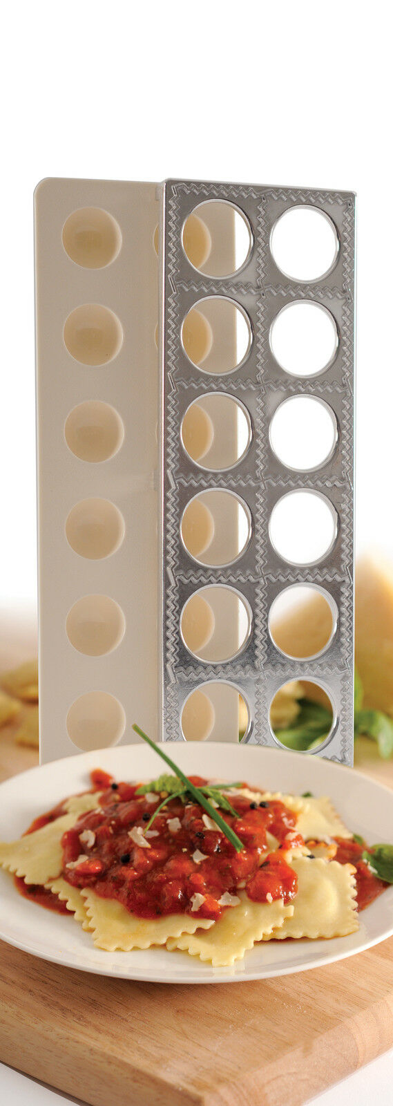 Norpro 1043 Ravioli Maker With Press Pasta Dough Mold Tool on sale