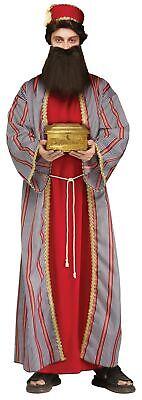 3 Wiseman Adult Costume Red Biblical Christmas Manger Nativity Wise Man Standard