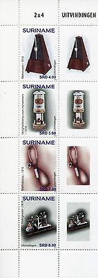 Suriname 2016 MNH Inventions 4v Block Set Stethoscope Uitvindingen Stamps