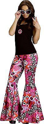Groovy 60's Flower Power Hippie Bell Bottom Pants Adult Costume Accessory](Flower Power Costume)