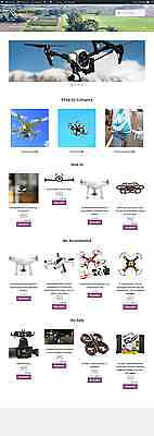Turnkey Amazon Affiliate Drones Store Website Business