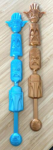 SHAG Star Wars Geeki Tikis 2 Swizzle Sticks for Tiki Mug Darth Vader Boba Fett