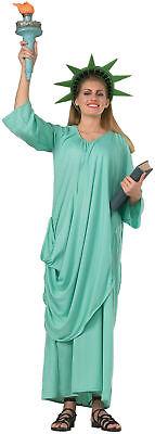 Statue of Liberty Adult Womens Costume Robe Patriotic USA American Halloween - Halloween Statue Liberty Costume