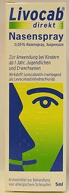 Livocab direkt  Nasenspray 5 ml gegen Heuschnupfen für Kinder ab 1 Jahr