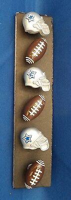 NFL DALLAS COWBOY Football Sport Handmade Decorative Push Pin Thumb Tacks Set 6](Dallas Cowboy Decorations)