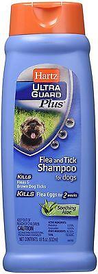 Hartz Ultra Guard Plus Flea - Tick Shampoo for Dogs, Soothing Aloe 18 oz