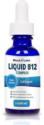 BEST Vitamin B Complex Liquid - New Vitamin B12 Sublingual Drops - Advanced