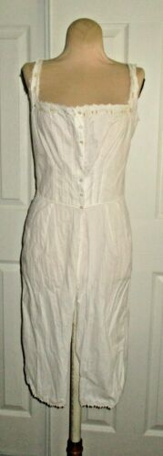 VICTORIAN STYLE COTTON CHEMISE / CAMISOLE OPEN LEG BLOOMERS