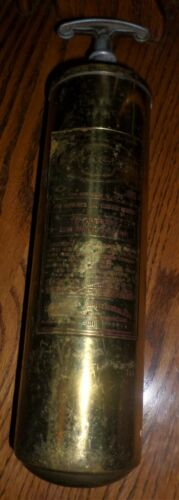 Vintage General Brass Fire Extinguisher Model 85 HD One Quart Fair to Good