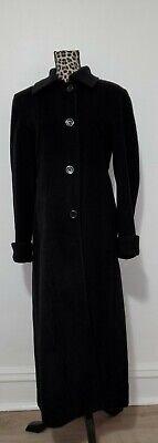 Classic Design Jones New York Ladies Women's Long Black Wool Coat, Size 14 Long Black Wool Coat