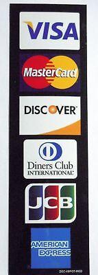 6 Logo Credit Card Decal Sticker Incl Visamaster Cardamexdiscoverdinersjcb