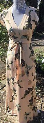 Hoss Intropia Beautiful Maxi Dress Size 36 Gorgeous Butterfly's