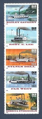 3091-95 Riverboats Strip Of 5 Mint/nh Free Shipping