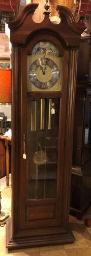 Vintage Antique Howard Miller Grandfather Clock - Western Germany - Moon Dial