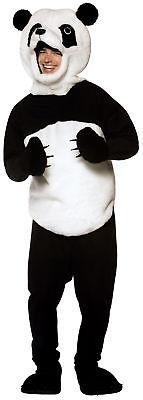 Panda Erwachsene Schwarz & Weiß Kostüm Tunika und - Panda Kostüm Kopf
