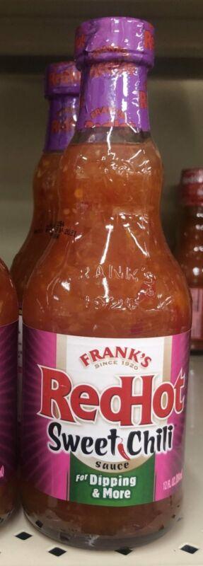 Frank's Red Hot Sweet Chili Sauce 12 fl oz Bottle Tabasco Chili Thai Vinegar