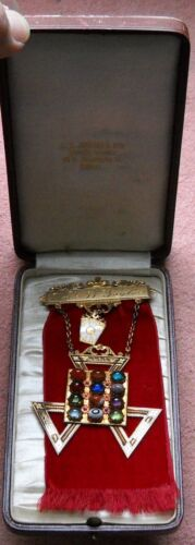 1945 Masonic High Priest Medal With Breast Plate Of Justus-14 K Gold-With Box