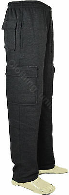 J8 Mens Cargo Combat Jogging Bottoms Trousers Elasticated Tracksuit Joggers Gym