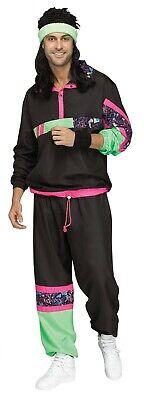 Rockin 80's Men's Track Suit - Adult Costume](Men 80s Costumes)