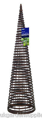 1.5m high Willow Twist Obelisk - Climbing Plant Garden Support