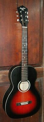 "Recording King RPH-05 Parlor ""O"" Size Steel String Acoustic Solid Top Guitar"