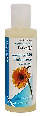 Provon Antimicrobial Lotion Soap - Provon 4oz Antimicrobial Lotion Soap Piercing Care 0.3% PCMX Gojo 4301-48