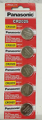 **FRESHLY NEW** 5x Panasonic CR2025 Lithium Battery 3V Coin Cell Exp 2024