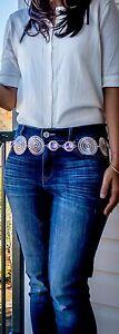 Cinturon-para-mujer-metal-plateado-con-cadena-Nueva-Moda-Cintura-Cadera-S-M-L-Onesize-veraniego-LV