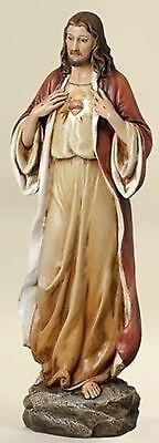 """Used, 13.75"""" Sacred Heart of Jesus Figure Statue Joseph's Studio Home Garden # 46695 for sale  Shipping to Canada"""