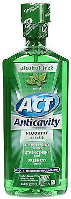 Act Alcohol Free Mint Anticavity Fluoride Rinse 18 fl oz (532 ml) Act Anticavity Fluoride Rinse Alcohol Free