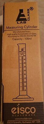 Eisco Labs 100ml Glass Measuring Cylinder