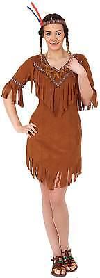 Indianerin Wilder Westen braun Indianer Karneval Fasching Kostüm - West Indian Karneval Kostüm