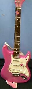 SX GYPSY ROSE PINK ELECTRIC GUITAR with Pink Soft Case Campbelltown Campbelltown Area Preview
