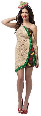 Taco Lebensmittel Kleid Erwachsene Damen Halloween Kostüm Rasta Imposta