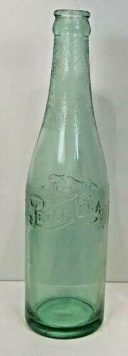 RARE!! DOUBLE DOT STRAIGHT SIDE EMBOSSED  PEPSI-COLA  BOTTLE 1940