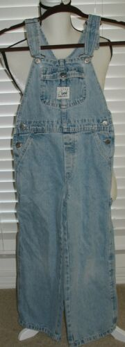 Vintage Denim Dungarees RIVETED BY LEE Youth or Womens Blue Overalls Sz S 24x20