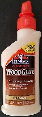 Elmers Carpenters Wood Glue Interior Sandable Paintable 4oz E7000
