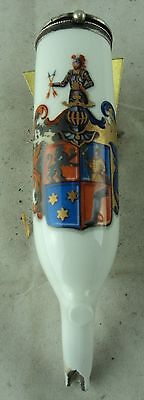 alte Pfeife aus Sammlung #07 Porzellanpfeife  Heraldik Wappen