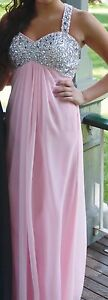 pink long prom dress for sale