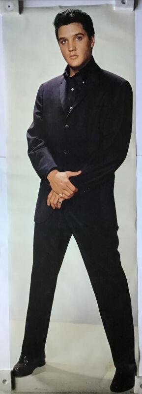 Elvis Presley Black Suit Rare 1979 Door Size Poster