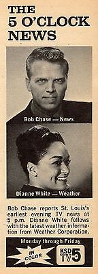 1966 St Louis Ksd Tv News Ad Dianne White Weather   Bob Chase Channel 5 Promo