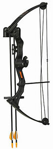 New-Fred-Bear-Brave-3-Youth-Archery-Compound-Bow-Kit-Black