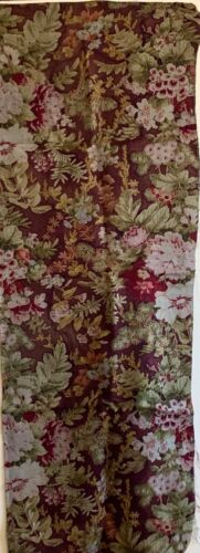 Beautiful Rare French 19th Century Wool Challis Napoleon III Floral Fabric (2719