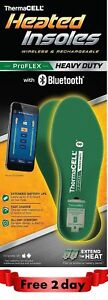 Thermacell PROFLEX Heavy Duty Heated Insoles Bluetooth Boot Shoe X-Large
