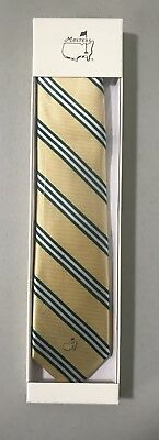2018 Masters Exclusive Augusta National Neck Tie Yellow Green New In Box Augusta Yellow Green